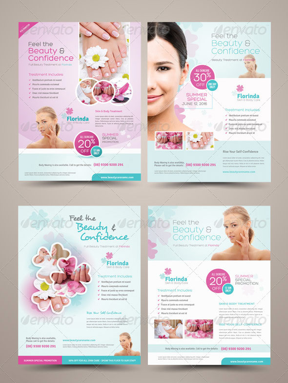 Amazing Beauty Hair Salon Flyer Templates Print IDesignow - Hair salon brochure templates