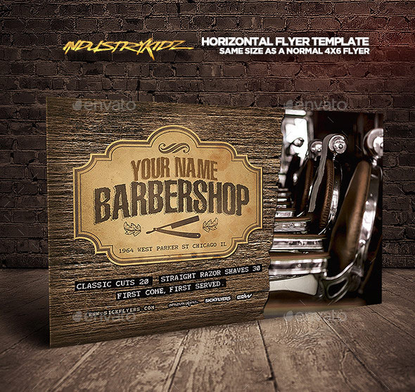 Barbershop Flyer Template Horizontal