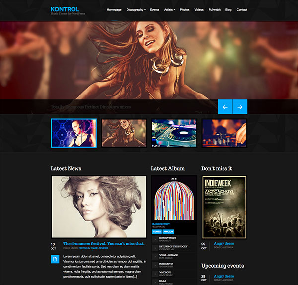 Kontrol - Music Site Template