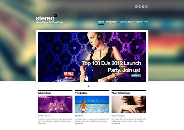 Stereo Squared - Responsive Music HTML template