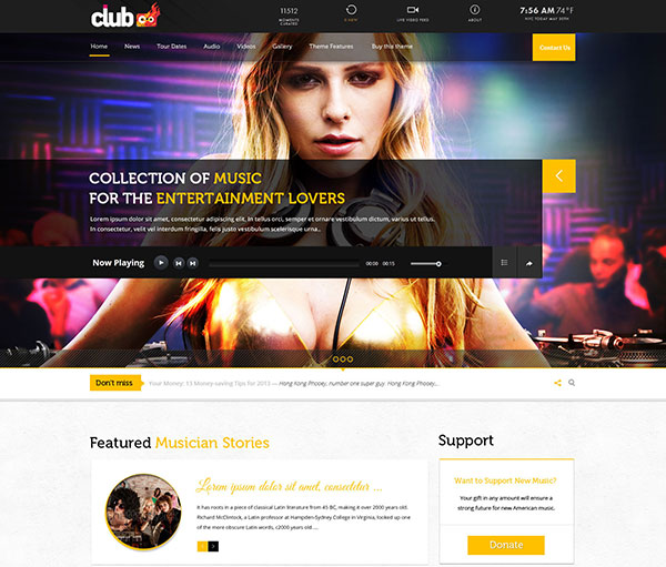 RockOn - Multipurpose Music Events, Store Template