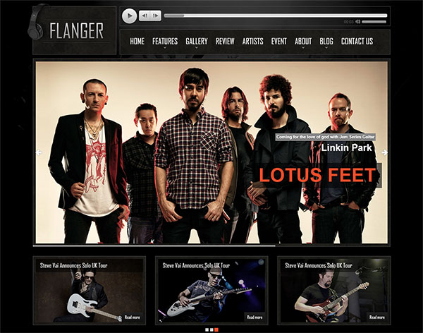 FLANGER | Responsive HTML5 Music & Band Template