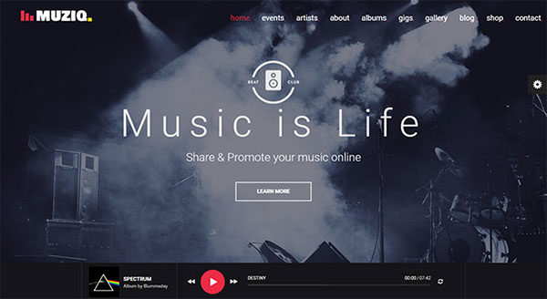Muziq - Music Band & Musician Template