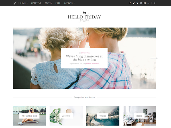Hello Friday - Elegant Lifestyle Blog & Shop Theme