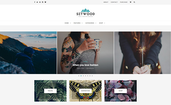 Setwood - WordPress Blog | Shop Theme