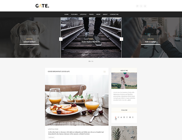 Gate - A Responsive WordPress Blog Theme