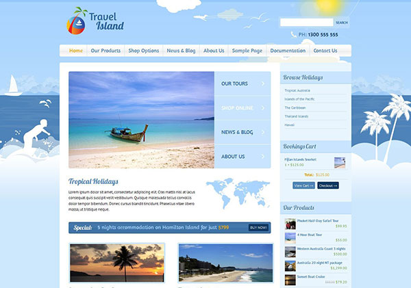 Travel Island WordPress