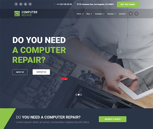 The Repair - Computer, Mobile and Electronics Repair WordPress Theme
