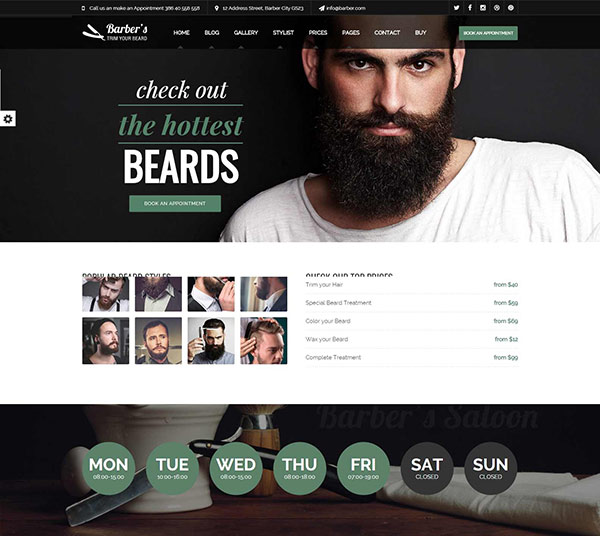 Barber - Html Template for Barbers and Hair Salon