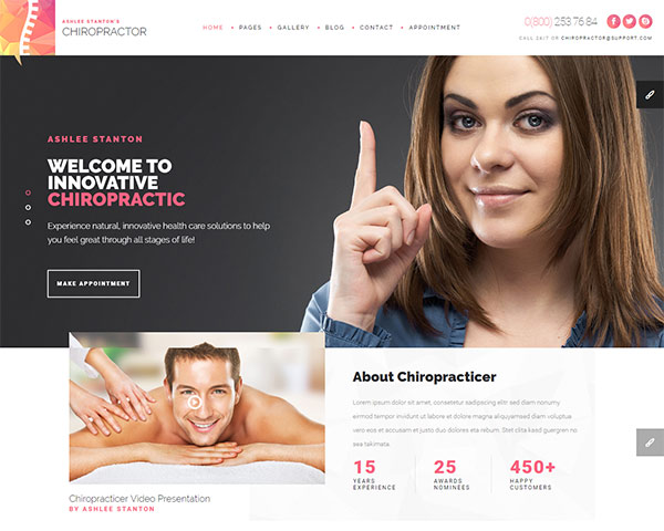Chiropractor - Therapy and Rehabilitation HTML Template