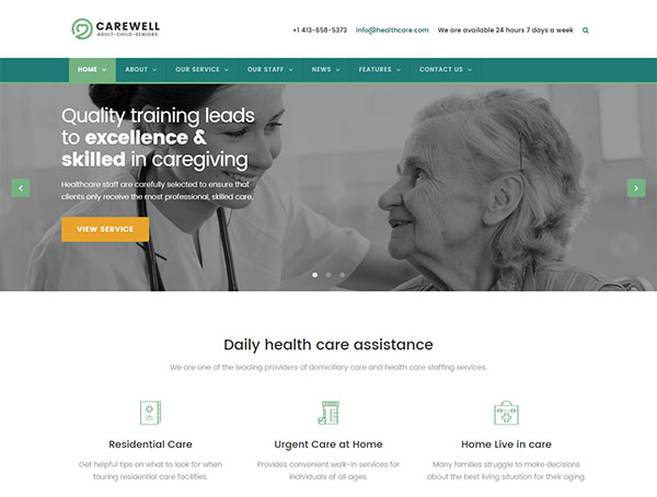 Physiotherapy & Elder Care Responsive Website Template | Physio Plus