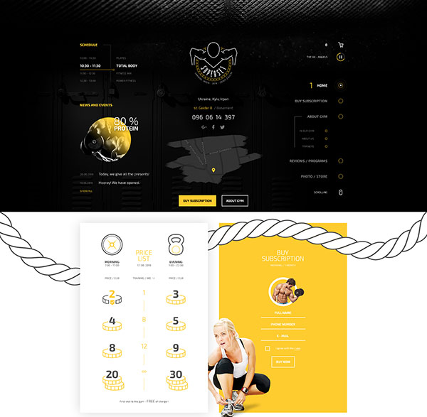 SUPERSET - GYM Landing Page