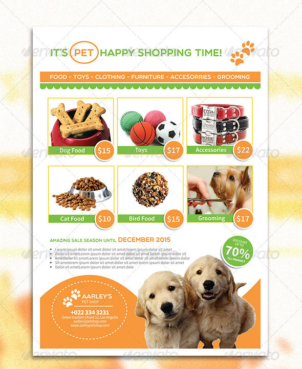 Pet Shop Flyer