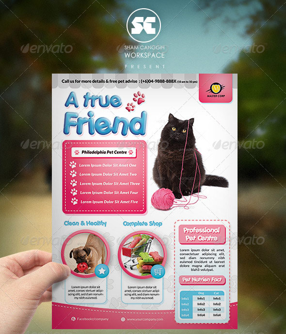 Pet Shop / Veterinary Centre Flyer