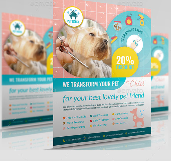 Pet Grooming Salon Flyer Template