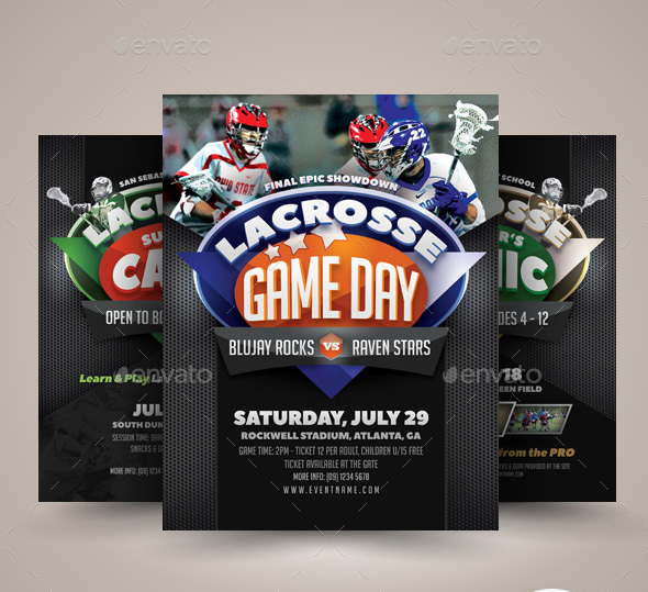 Lacrosse Game or Camp Flyer Templates