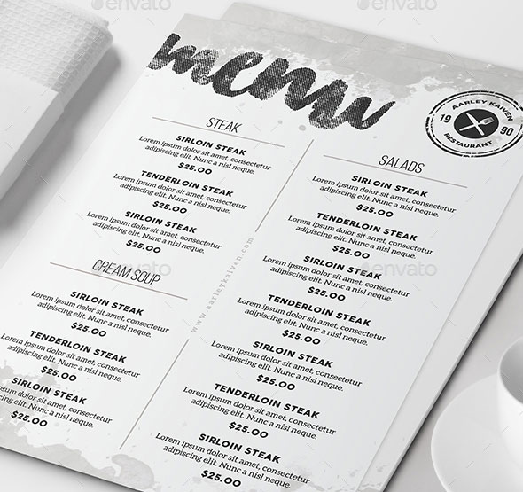 Minimalist Menu + Business Card