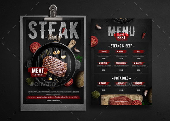 Steak House Menu - Flyer