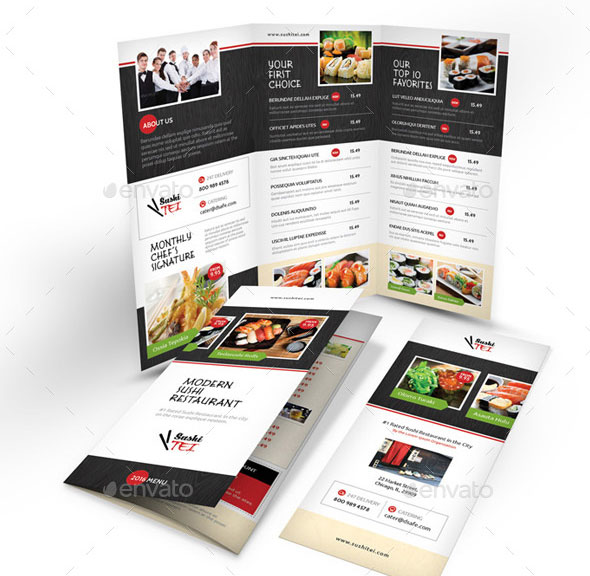 Sushi Menu Print Bundle 2