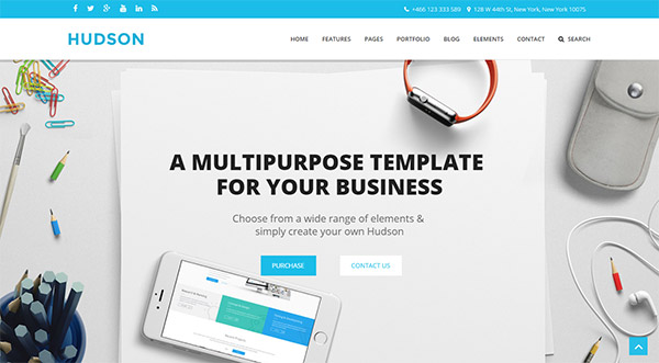 Hudson - Multipurpose Joomla Template