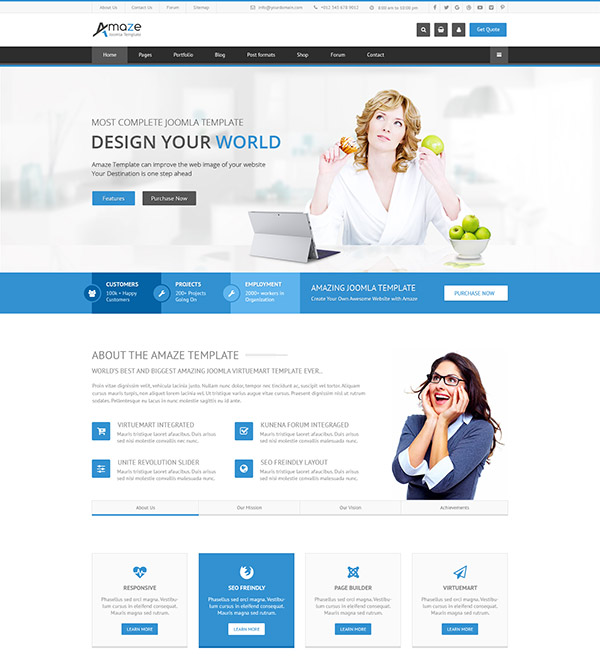 Amaze - Corporate Responsive Multi-Purpose Joomla Template