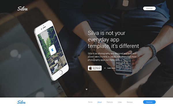 Silva — Beautiful App HTML Template