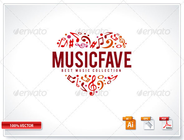 Music Fave Logo Template