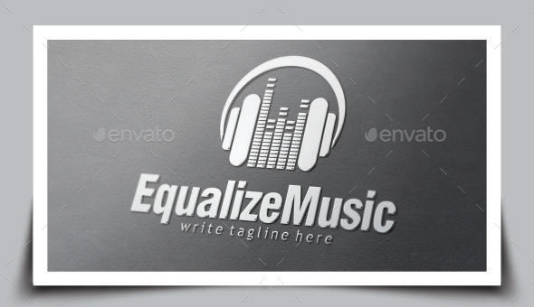 Music Equalizer Logo Template