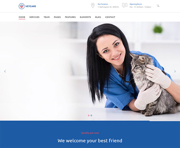 Vetcare Medical - Pet, Animal Doctor & Veterinarian WordPress Theme
