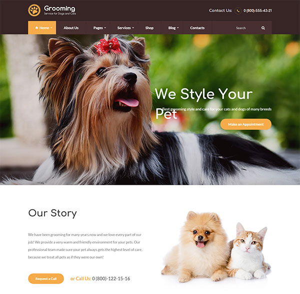 Pet Grooming / Pet Shop / Veterinary Theme