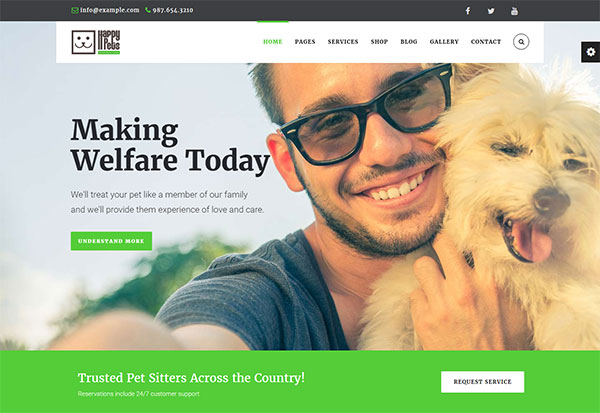 Happy Pets - A Pet Shop/Services WordPress Theme