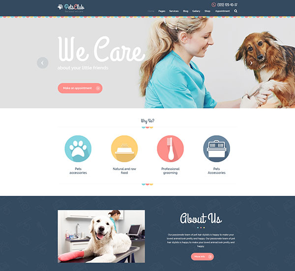Pets Club - Pet Care, Shop & Veterinary Theme
