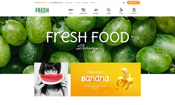 Fresh Food - Fruit Store Shopify Theme