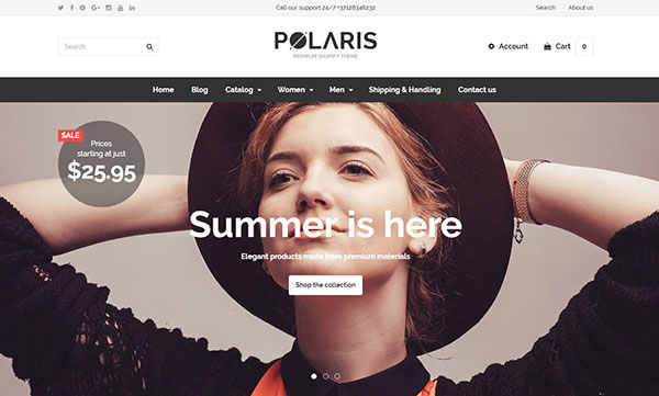 Polaris - Minimal & Powerful Shopify Theme
