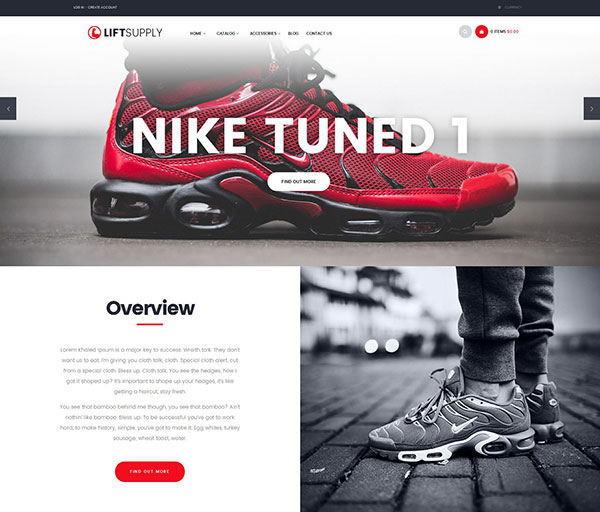 Lift Supply - Single Product Shopify Theme