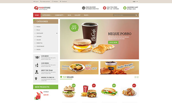 Foodstore Responsive Shopify Theme