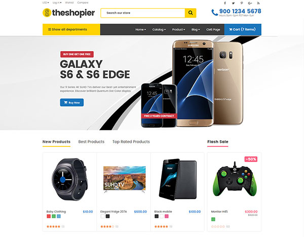 Shopier - DRAG & DROP Responsive Fashion, Electronics, Gifts, Super Market Shopify Theme