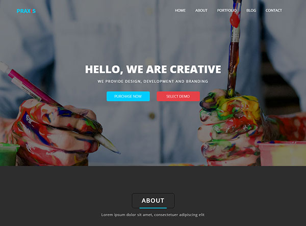 Praxis - Creative Agency and Portfolio Muse Template