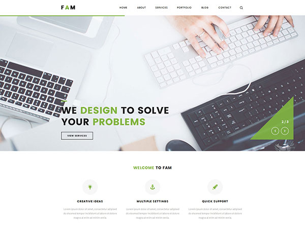 Fam | A WordPress Theme for Creative Portfolios and Blogs