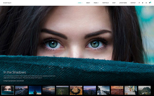 Partout - Fullscreen Photography Theme