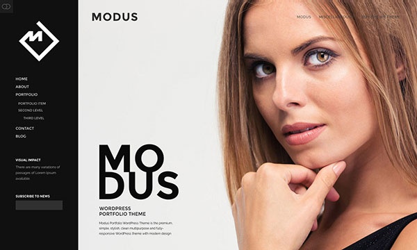Modus - Portfolio WordPress Theme