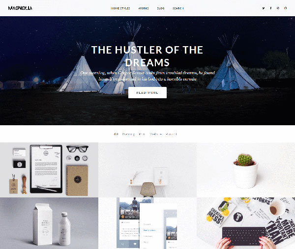 Magnolia - Blog and Portfolio WordPress Theme