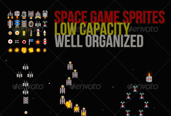 Sprite Sheet For Space Games