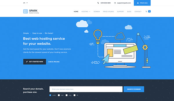 Spark – Hosting and Technology PSD Template