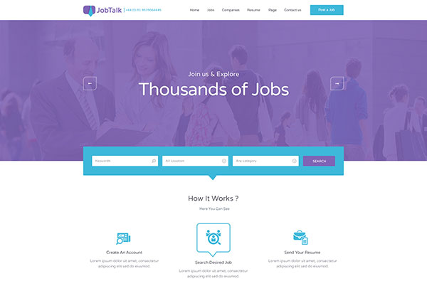 Jobtalk - Job Board PSD Template