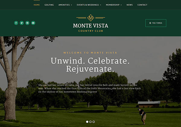 Monte Vista - Country Club & Golf Course Theme