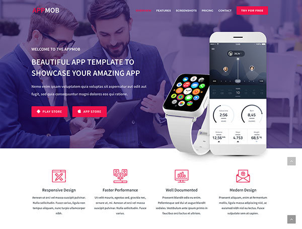 APPMOB - App Showcase Template