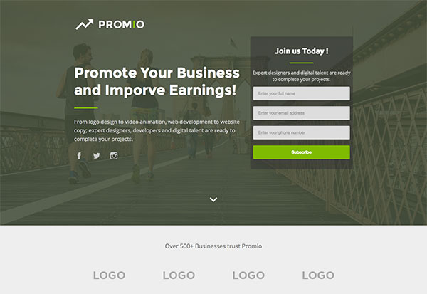 PROMIO - Marketing Multipurpose HTML Landing Page