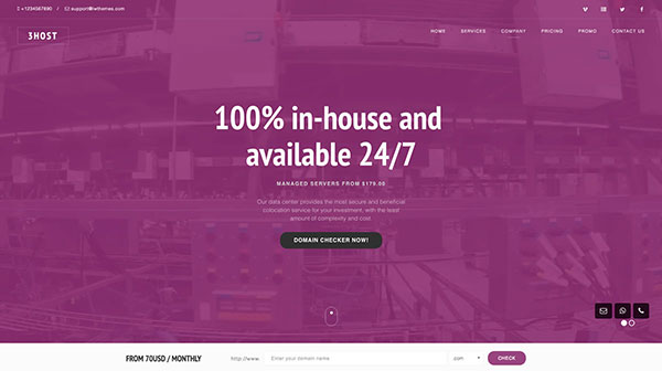 Hosting Domain Landing Page with WHMCS   3Host
