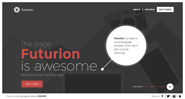 Futurion - Beautiful Landing page template